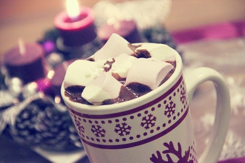 christmas, cold, hotchocolate and snow