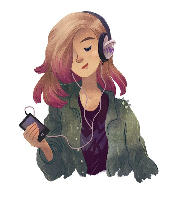 Girl With Headphones Tumblr