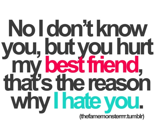 You Hurt My Best Friend Quotes Tumblr : Whahahah jalisse image by maria d on favim