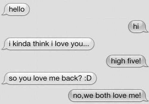 funny, funny quotes, high five, i love you, i think i love you, love ...