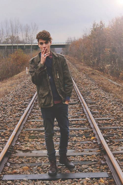 cigarette, railway and style