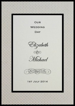 Layered Embossed Pebbles In White Square Vertical Invitation