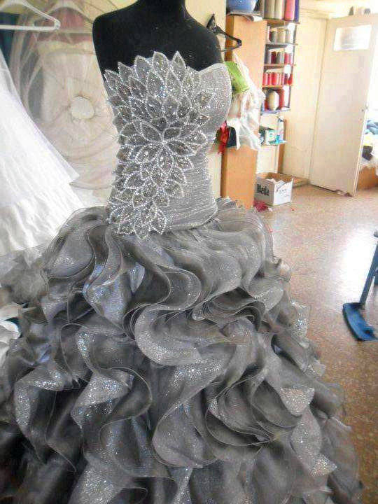 ball gown, bridal, bride and dress