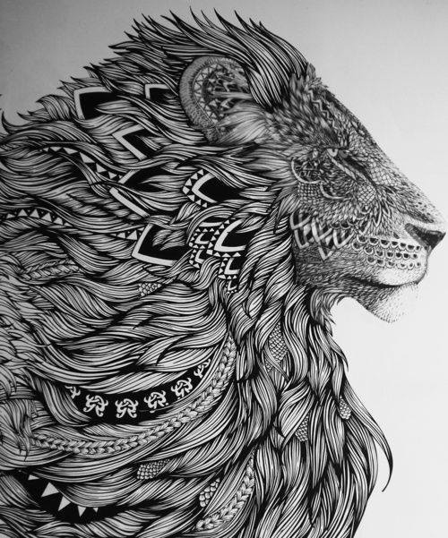 lion tribal background image 1830674 by mariad on