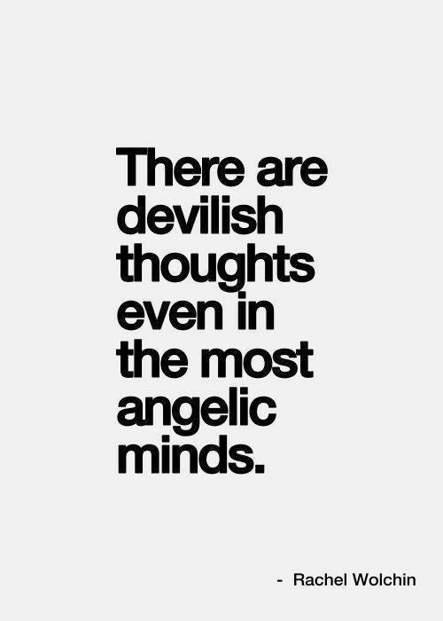 angel, devil, mind and quotes