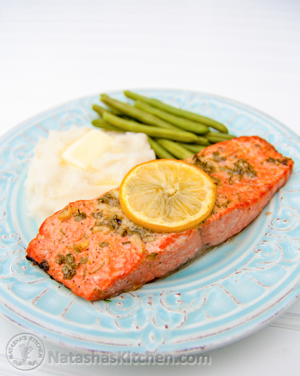 Baked Salmon with Garlic and Dijon | NatashasKitchencom - image ...