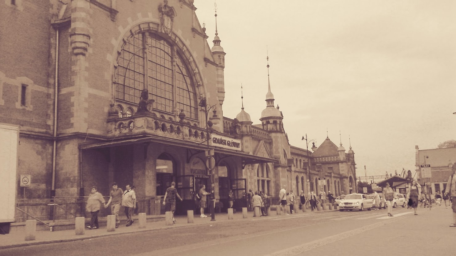 people, railway station, station and Gdansk