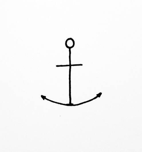 Line Drawing Anchor : Anchor image by taraa on favim