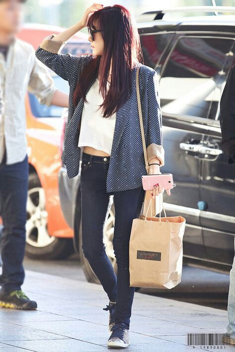 airport fashion girls generation hair hwang kpop