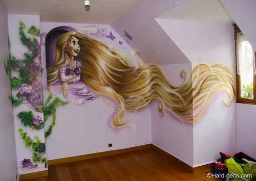 Chambre Princesse Disney : Tangled Rapunzel as a Little Girl
