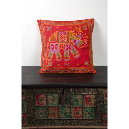 Elephant Embroidered Modern Pillows, Elephant Embroidered Cushions, Elephant Embroidered Decorative Sofa Pillows and Elephant Embroidered Cotton Cushion Covers