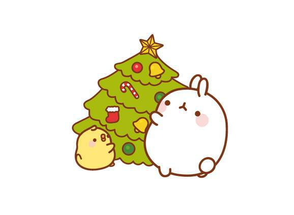 Molang via facebook image 2315524 by marky on for Cute christmas tree drawing