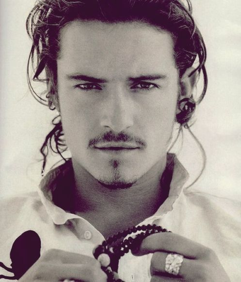 black and white and orlando bloom