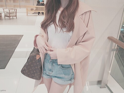 bag, clothes, clothing, cute, fashion, girly, jacket, kfashion, look, outfit, perfect, photo, photography, shirt, short, tan