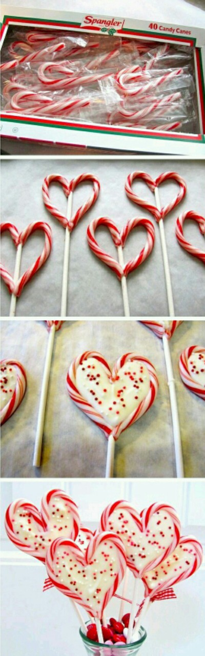 candy canes, christmas, food and heart pops