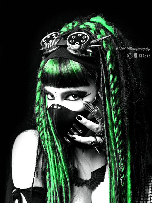 alternative, apocalypse, cyber, cybergoth, cyberpunk, dark, fashion, futuristic, goth, gothic, gothique, mistabys, model, scary, spooky, style, woman, cybergothgirl