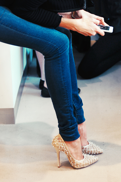 chic, classic, girly, gorgeous, heels, jeans, lace, louboutins, skinny