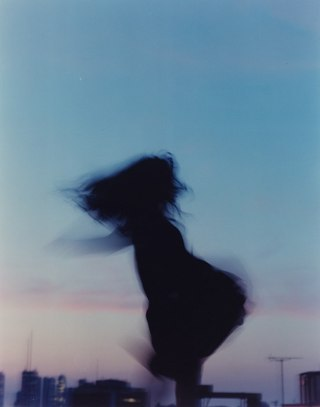 girl, indie, movement, shadow, sky, vintage
