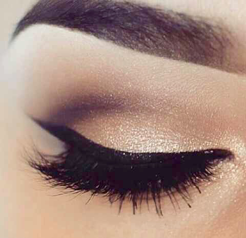 beautiful, black eyeliner, cute and eyebrows