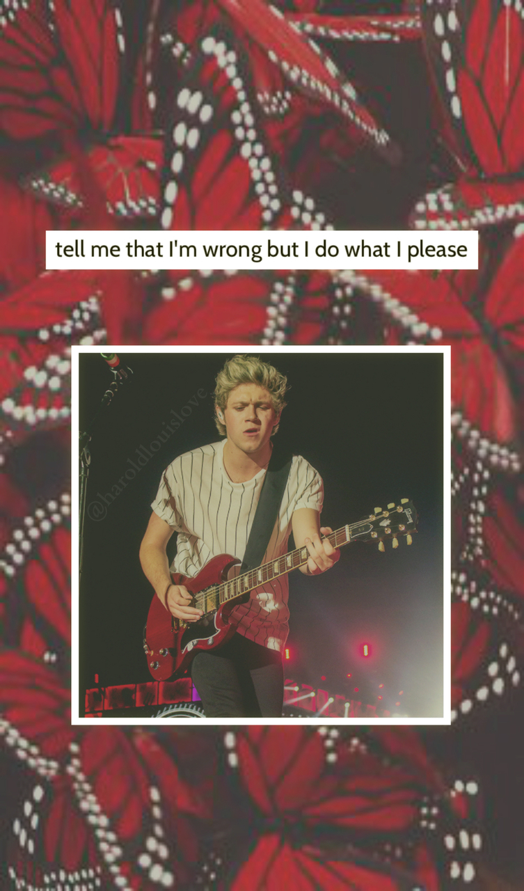 Niall niall horan one direction red zayn malik lock screen