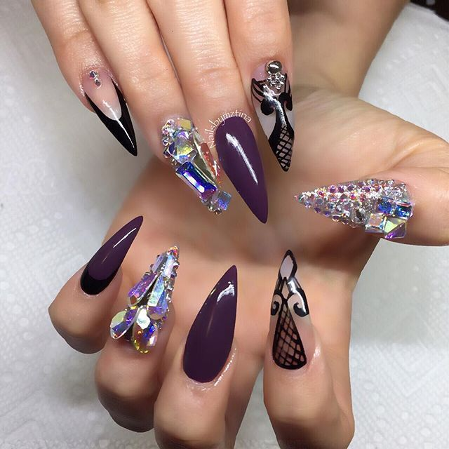 dope, fall colors, glamorous and lace nails