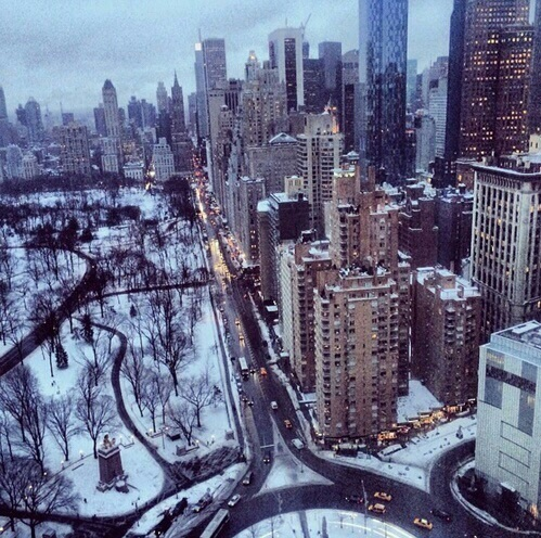 beautiful, new york, nyc and snow