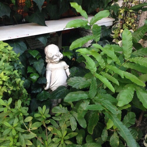 aesthetic, architecture, creepy, garden, girl, indie, moss, nature, pale, plants, statue, vintage, pale grunge