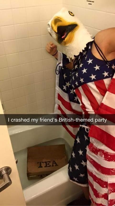american, british, eagle, funny, party, tea, uk, us