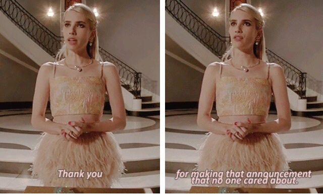 Emma Roberts Scream Queens Chanel Oberlin And Scream Queens Quotes Image 3685304 On Favim Com