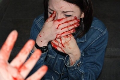 blood, girl, gore, grunge, hand, sad