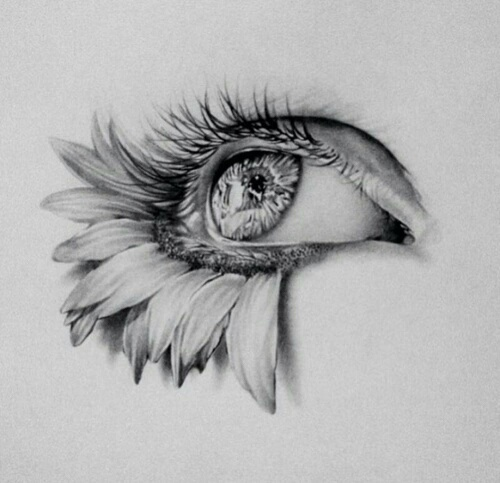 Emotional Lines In Art : Art draw emotional eye picture image by