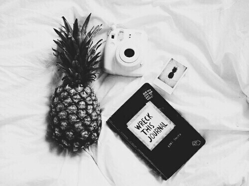 black and white, indie, pineapple, tumblr - image #3850764 ...