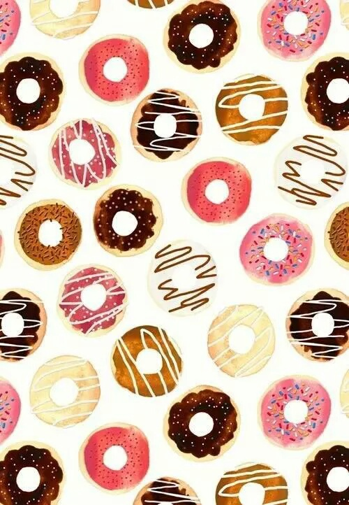 Background backgrounds beautiful cute donuts image - Kawaii food wallpaper ...