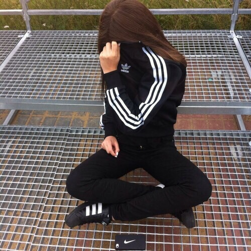 adidas, aesthetic, black and carefree