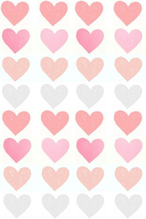 cute, girly, hearts, patterns, pink - image #3881536 by ...