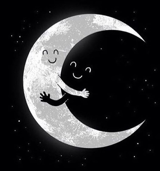 black and white, moon, night - image #3895124 by helena888 ...