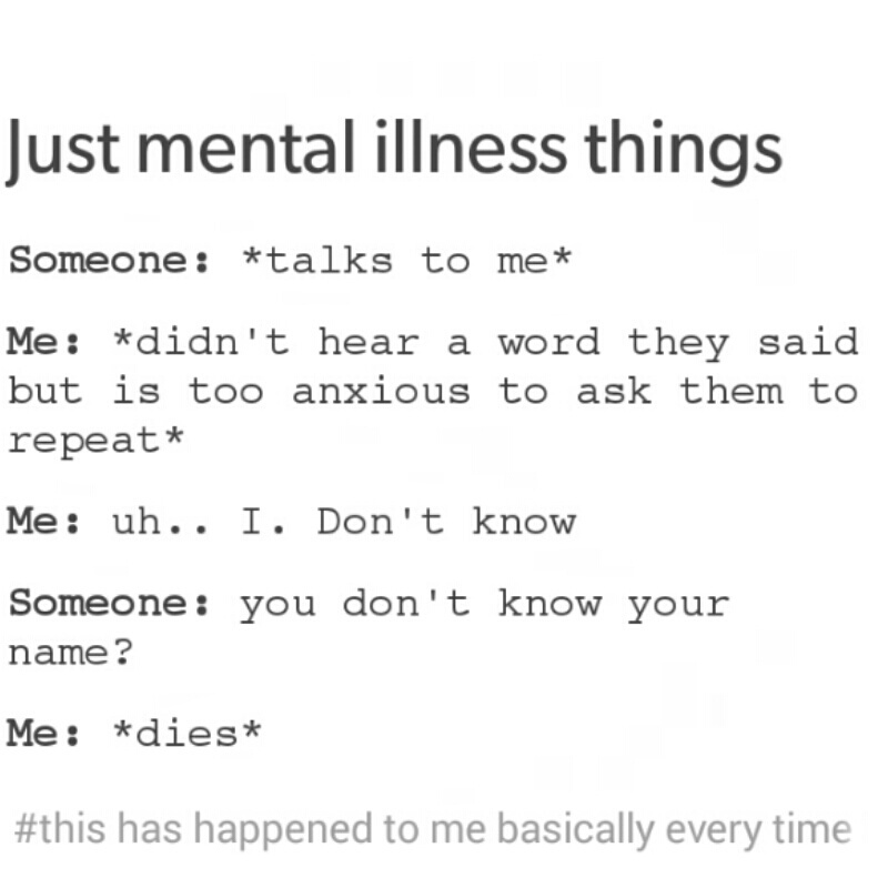 anxiety, funny, mental illness and shy