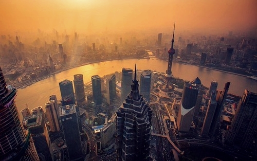 ancient, architecture, beautiful, big city, buildings, china, chinese, cn, empire, explore, old, photo, photography, river, sea, shanghai, skyscrapers, sun, sunset, tower, travel, wanderlust, mandarin chinese, sinrise, shanghai tower