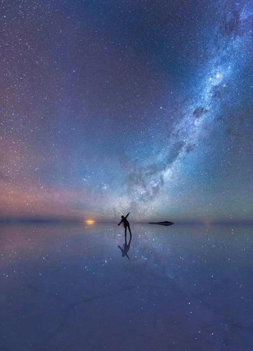 colors, person, photography, reflection, shadow, sky, stars, universe