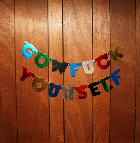 Piccsy :: 39;Go Fuck Yourself39; Party Decoration