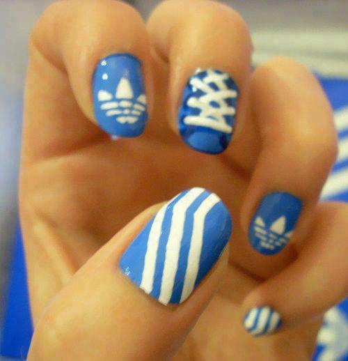 adidas, beautiful, nails