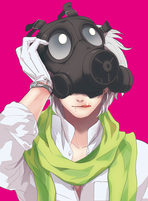 anime, boy, mask