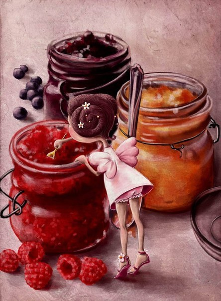 art, candy, girl, illustration, magick, sweets