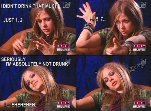 avril lavigne, young, crazy, wild, drunk