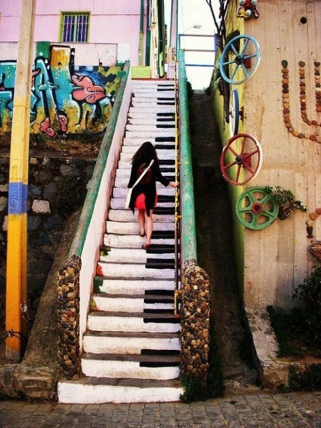 awesome, color, piano, girl