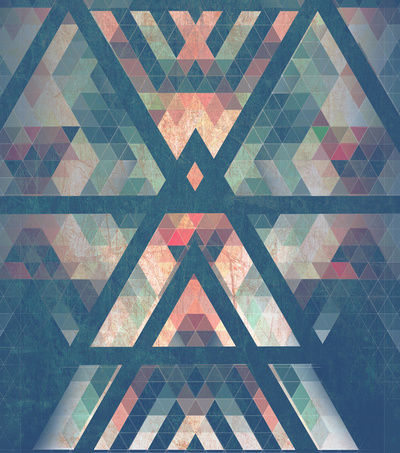 arrows, background, glass, stained, triangles