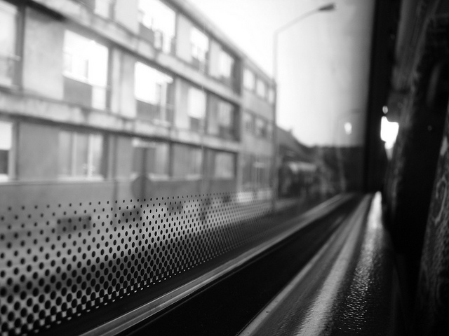 bus, travel, window, city, blur