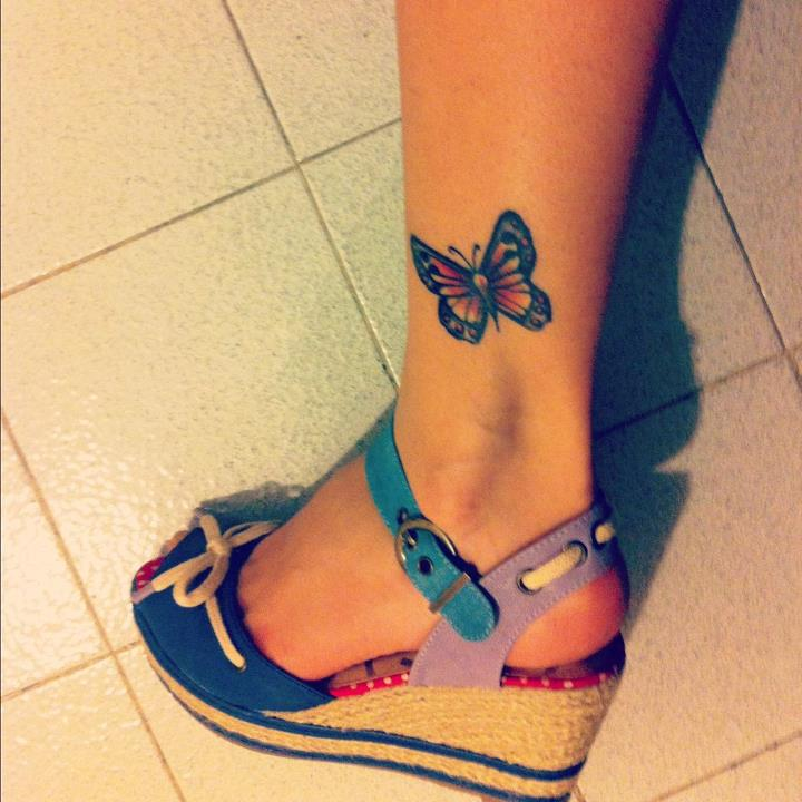 butterfly, tattoo, leg, shoes, foot