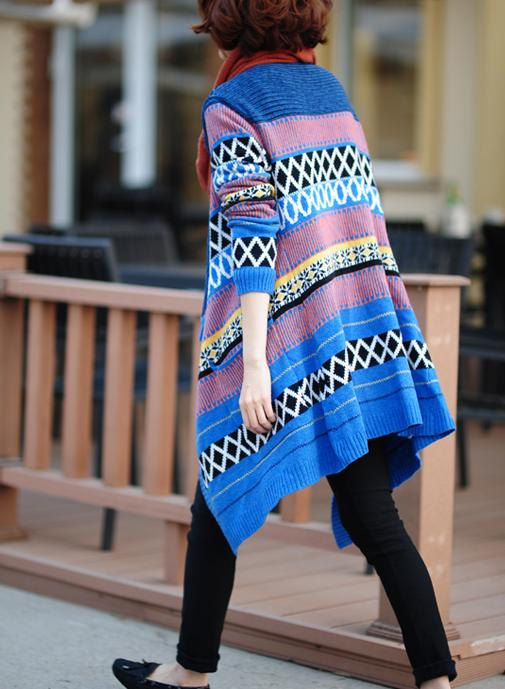 blue, boho, clothing, coat, comfortable, hippie, loose, open coat, women