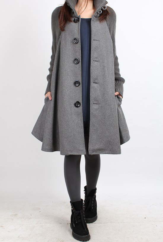 army green, black, cape coat, clothing, coat, gray, jacket, long sleeve, red, winter, women, wool overcoat